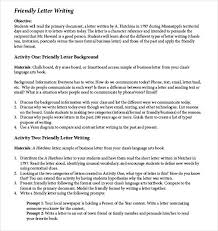 friendly letter templates 42 free sample example format free