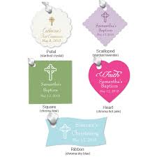 personalized baptism favors christening or baptism personalized hang tags christening