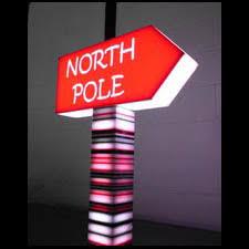 custom light up signs custom light up north pole l sign