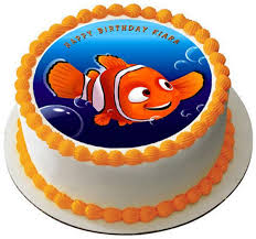 nemo cake toppers nemo 2 edible birthday cake or cupcake topper edible prints on