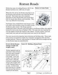 roman roads facts u0026 information worksheet year 7 pdf