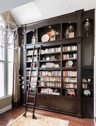Bookcase With Books Dura Supreme Cabinetry Library In Heritage Paint Gray Home Office