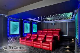 Home Theater Ceiling Lighting Nyceiling Inc Portfolio Basements Matte Stretch Ceiling