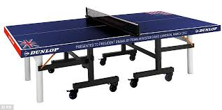Winston Ping Pong Table For Sale Custom Ping Pong Table by Ding Dong Over Cameron U0027s U0027british U0027 Ping Pong Gift To Obama That