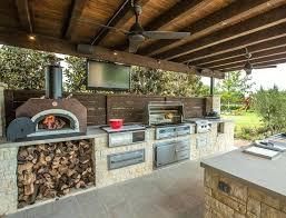 Outdoor Kitchen Pizza Oven Design Backyard Kitchen Designs Cook Outside This Summer Inspiring