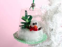 plastic cup diorama ornament