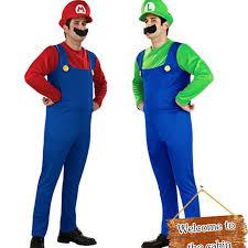 Mario Luigi Halloween Costume Cheap Mario Luigi Costumes Aliexpress