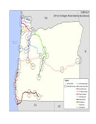 Burns Oregon Map Appendix C Gis Maps Of Rural Intercity Bus Routes Toolkit For