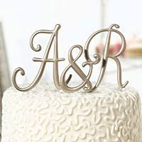 monogram cake toppers for weddings 50th anniversary party decorations gifts and favors