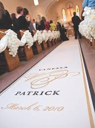 personalized aisle runner custom aisle runners for weddings original runner company