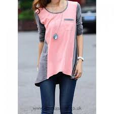 what compliments pink pink for women scoop neck colormatching long sleeved t shirt compliments
