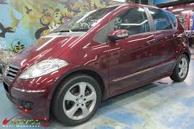 mercedes a170 full car colour change spray painting with zetough