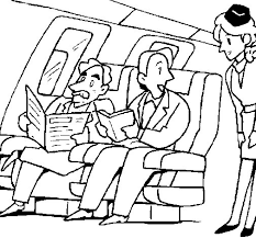 aeroplane passengers coloring coloringcrew