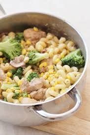 creamy chicken broccoli and sweetcorn pasta easy peasy foodie