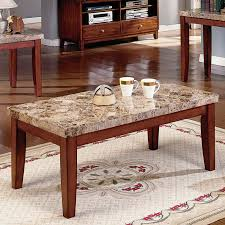 Marble Coffee Table Steve Silver Montibello Marble Top Coffee Table Hayneedle