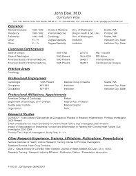 Sample Resume Doctor Sle Sample Physician Example And Cover Letter