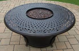 Natural Gas Fire Pit Kit Oakland Living Charleston Round Gas Firepit Table U0026 Reviews Wayfair
