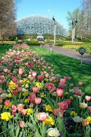 Botanic Garden St Louis by Saint Louis Botanical Garden With View Of Geodesic Dome Stock
