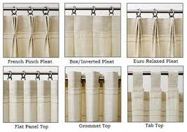Types Of Curtains Decorating Stylish Box Pleat Curtains Decorating With Best 25 Drapery Styles
