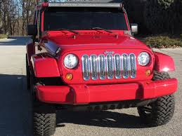 flame red jeep 2009 jeep wrangler unlimited custom st charles missouri schroeder