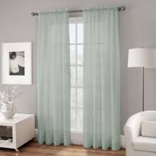 Navy Blue Sheer Curtains Buy Blue Sheer Curtain Panels From Bed Bath Beyond