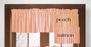 Solid Color Valances For Windows Solid Peach Or Salmon Colored Wndow Valance