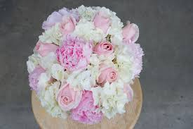 Peonies Bouquet Peony Rose And Hydrangea Bridal Bouquet Stadium Flowers