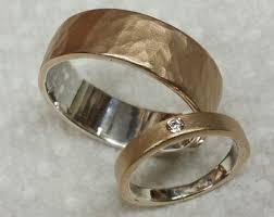 artisan wedding rings handmade rustic wedding rings by custom artisan by jewelryletgo