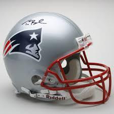 Patriots Halloween Costume Autographed Tom Brady Proline England Patriots Helmet Tom