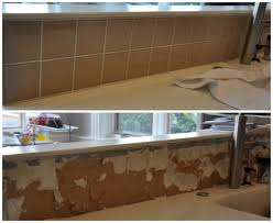 How To Remove A Tile Backsplash by Diy How To Remove A Glass Tile Backsplash House Updated