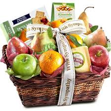 sympathy food baskets golden state fruit sympathy fruit basket with cheese