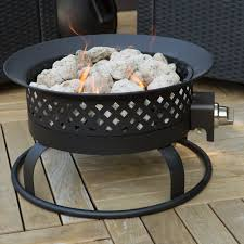 bond 18 5 in portable propane campfire fire pit dark bronze