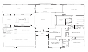 Great Room Floor Plans Single Story 100 One Story Floor Plan 4 Bedroom Modern House Design