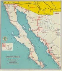 Map Of Sinaloa Mexico by Caminos De Mexico 1955