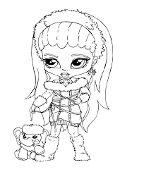 Monster High Coloring Pages Baby Abbey Bominable   monster high abbey coloring pages getcoloringpages com