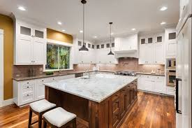 White Kitchen Dark Island Kitchen Island Cabinets