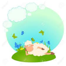 imagenes animadas sobre amor ilustración de los sueños de ovejas de dibujos animados sobre el