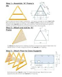 100 a frame building plans simple a frame chicken coop