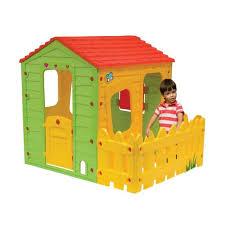 maisonnette de jardin enfant cabane enfant en pvc fermette 1 18 x 1 46 x 1 27 m achat