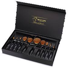 amazon com bestope makeup brushes 10 pieces oval makeup brush