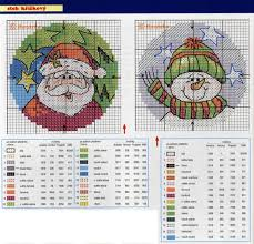 197 best counted cross stitch santa images on