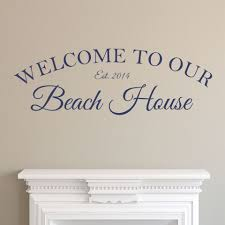 peel stick wall art personalized welcome to our beach house picture of personalized welcome to our beach house