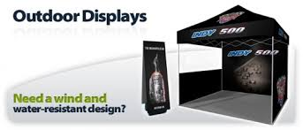modern style outdoor trade show displays and trade show display