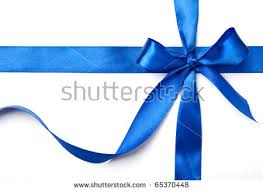 white blue ribbon blue ribbon bow gift on white stock photo royalty free 65370448