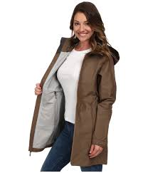 mountain hardwear soma plasmic trench jacket in brown lyst