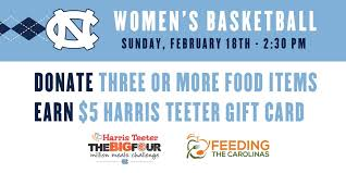 unc supporting million meals challenge on sunday unc tar heels