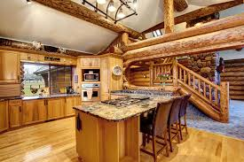 black kitchen cabinets in log cabin log cabin kitchens cabinets ideas in 2020