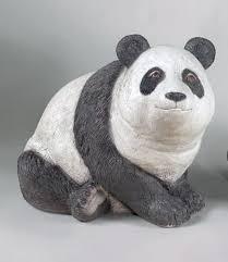 panda garden sculpture cement wildlife flair animals