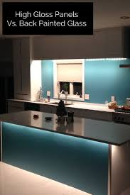 Easy To Clean Kitchen Backsplash Best 25 Back Painted Glass Ideas On Pinterest Glass Tile
