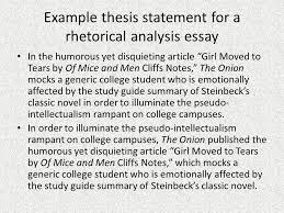 rhetorical analysis thesis statement ppt video online download